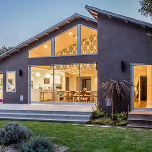 1960s purple one-story gable roof idea in Los Angeles