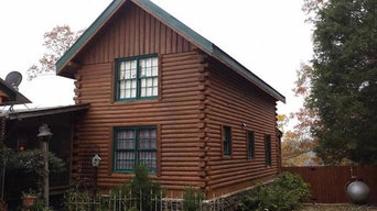 Log cabin stain & paint.