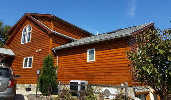 Log Home Staining with Sikkens
