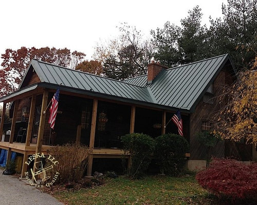 Green Metal Roof Home Design Ideas Pictures Remodel And