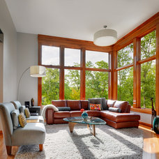 Contemporary Living Room by A. Slawter Architecture