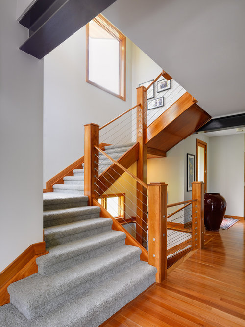Wood Handrail Home Design Ideas, Pictures, Remodel and Decor