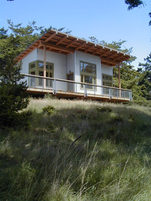 Single pitch roof houzz for One story shed roof house plans