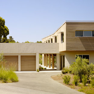 Inspiration for a mid-sized modern brown two-story exterior home remodel in San Francisco