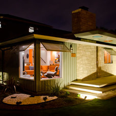 Midcentury Exterior by Weaver Design Group