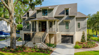 award winning low country styled home, after photo