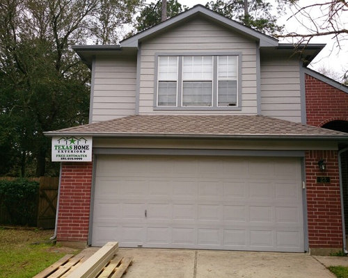Lp smartside siding job in the woodlands tx for Lp smartside shakes coverage