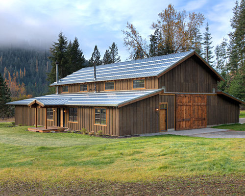 Foto e idee per arredare una casa in montagna seattle for Moderni piani di case ranch sollevate