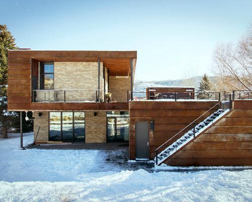 Industrial exterior design ideas renovations photos for 1235 s prairie floor plans