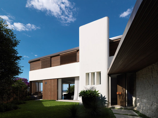 Contemporary Exterior by Luigi Rosselli Architects