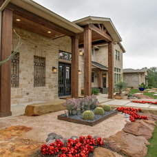 Transitional Exterior by Sterling Brook Custom Homes