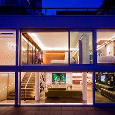 Contemporary Exterior by Kerr Construction
