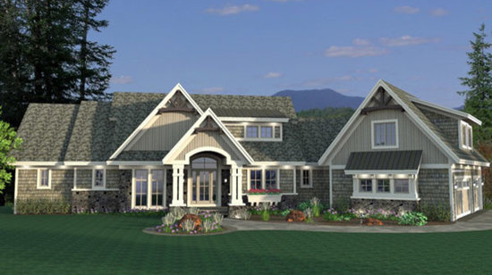 luxury craftsman ranch home 9681