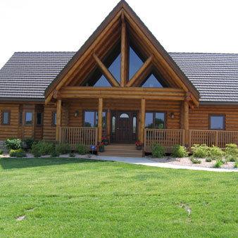 Real log homes n e kansas st george ks home builders for Home builders in kansas