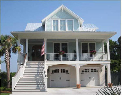 Traditional Exterior by Coastal Home Plans