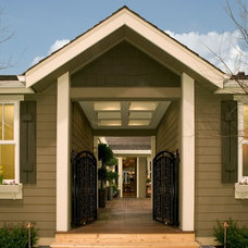 Traditional Exterior by timberland homes inc.