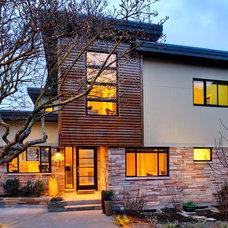 Contemporary Exterior by Axiom Design Build