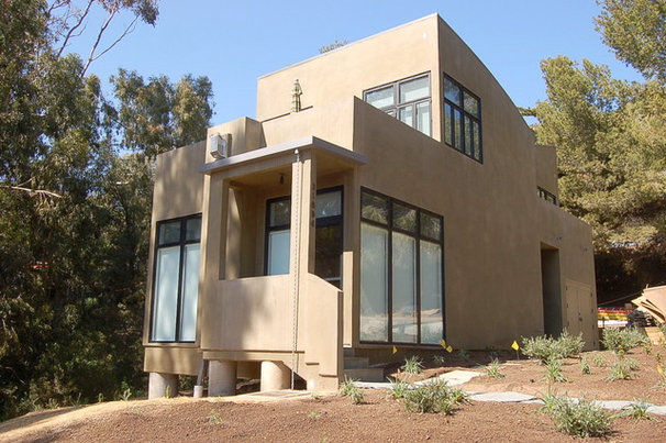 Contemporary Exterior by Woods Construction  - TRW Construction, Inc