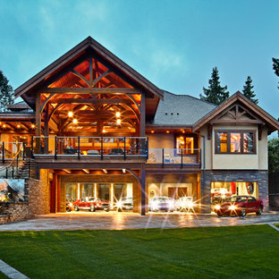 Inspiration for a timeless two-story exterior home remodel in Vancouver
