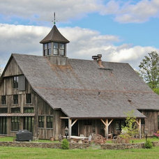 Traditional Exterior by Green Mountain Timber Frames