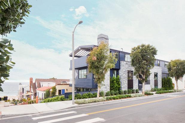 Houzz Tour Modern Bungalows Reverse Floor Plan Highlights Views – Houzz Homes Floor Plans