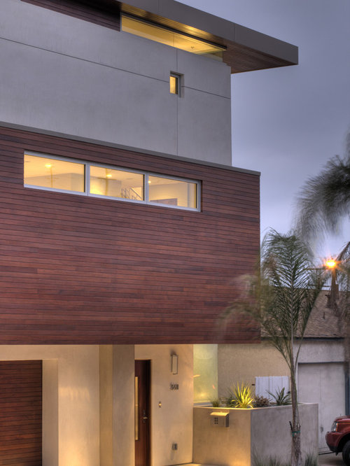 minimalist wood exterior home photo in los angeles
