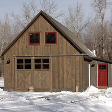 Rustic Exterior by Penny Lane Home Builders, LLC