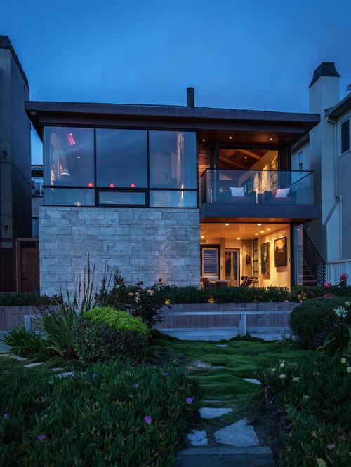 Manhattan beach ocean front residence for Beach design homes