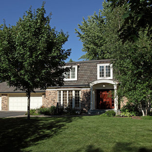 Inspiration for a timeless brick exterior home remodel in Minneapolis