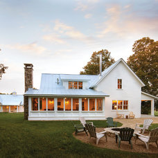 Farmhouse Exterior by Lendrum Photography LLC