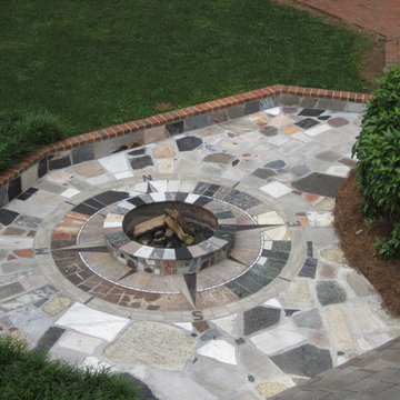 Marble Compass Rose Fire Pit