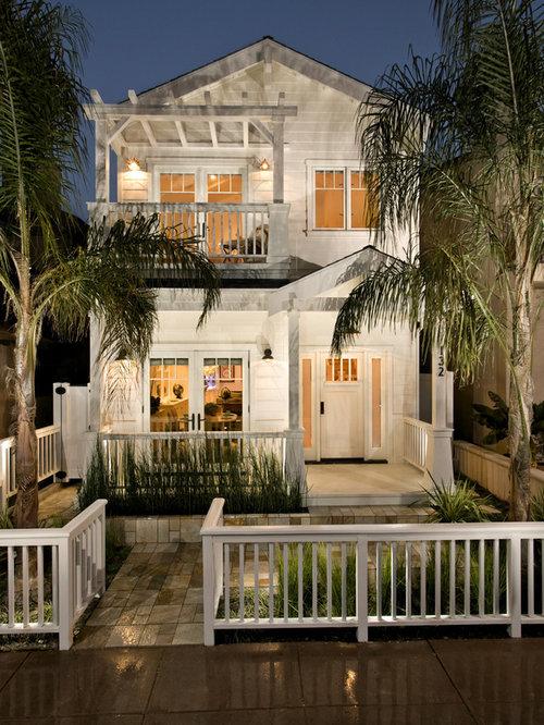 Modern craftsman exterior houzz for Modern tropical house exterior
