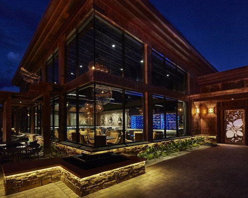 Modern restaurant exterior design ideas remodels photos for Cafe design exterior