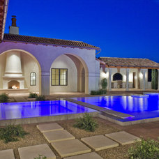 Mediterranean Exterior by Jon Luce Builder