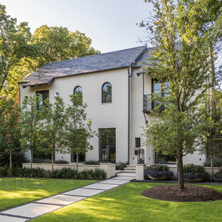 Inspiration for a mid-sized contemporary exterior home remodel in Dallas