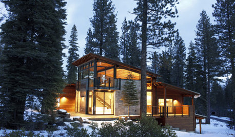Houzz Tour: A Cosy and Contemporary Home With Stunning Mountain Views