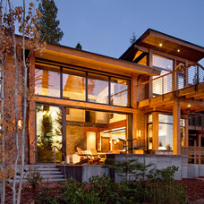 Contemporary Exterior by Crestwood Construction Inc.