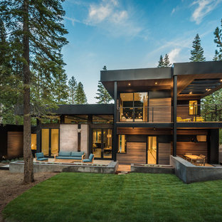 Inspiration for a modern exterior home remodel in Other