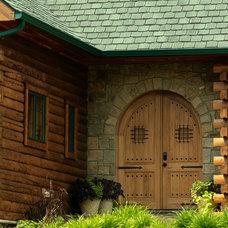 Traditional Exterior by Katahdin Cedar Log Homes