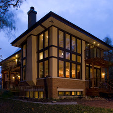 Contemporary Exterior by Mark A. Miller Architects/Builders Inc.