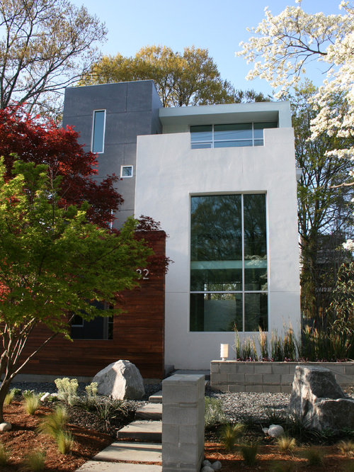 Stucco Design Ideas decor painting stucco exterior with exterior stucco painting from renovate paint and design in san antonio Design Ideas For A Modern Exterior In Atlanta With Wood Siding