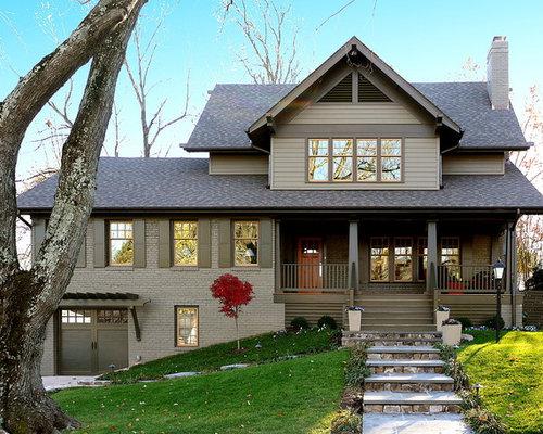 Exterior trim houzz - Cost to paint house exterior trim ...
