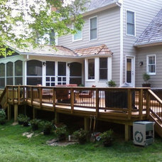 Traditional Exterior by Add A Deck, Inc.