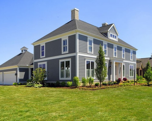 Gray exterior paint home design ideas pictures remodel for Houzz exterior