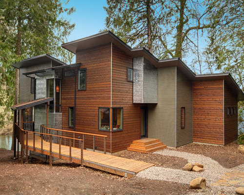 Horizontal wood siding design ideas remodel pictures houzz for Horizontal wood siding panels