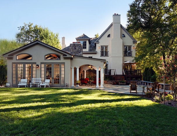 Traditional Exterior by Lori Shaffer