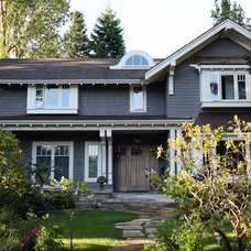 Traditional Exterior by John Henshaw Architect Inc.