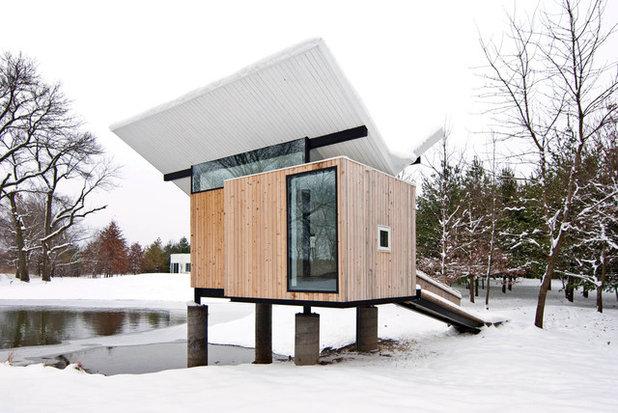 Contemporary Exterior by Jeffery S. Poss, Architect