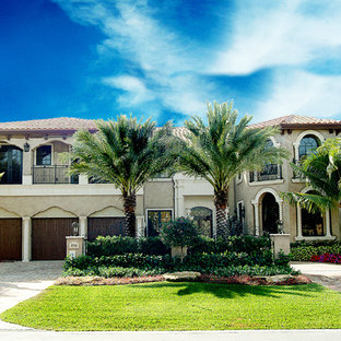 This is an example of a mid-sized mediterranean exterior in Other.