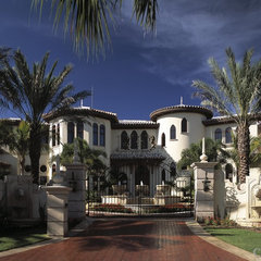 mediterranean exterior by Clifford M. Scholz Architects Inc.